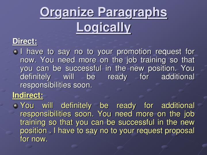 Organize Paragraphs Logically