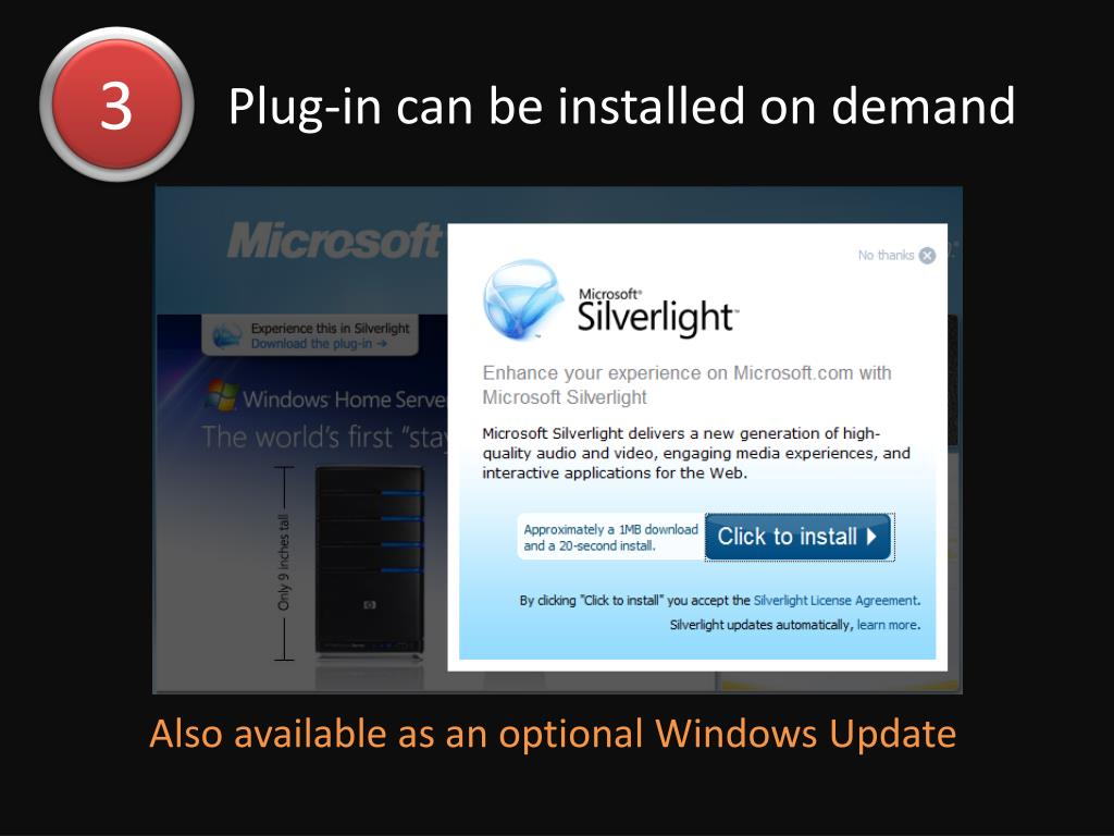 Plug-in can be installed on demand