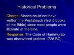 historical problems