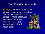two creation accounts