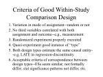 criteria of good within study comparison design