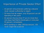 importance of private sector effort