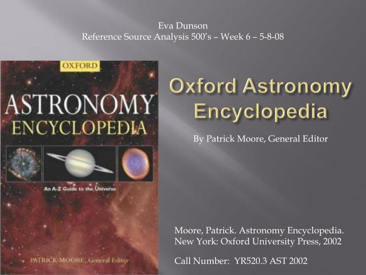 oxford astronomy encyclopedia n.