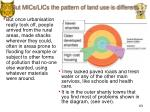 but mics lics the pattern of land use is different