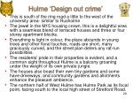 hulme design out crime