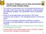 key idea 3 changes occur as urban environments age and the needs of people change