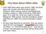 key ideas about million cities