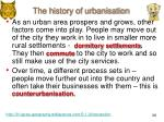 the history of urbanisation1
