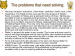the problems that need solving1