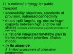 1 a national strategy for public transport