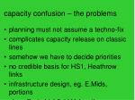 capacity confusion the problems