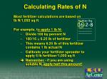 calculating rates of n