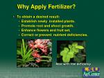 why apply fertilizer