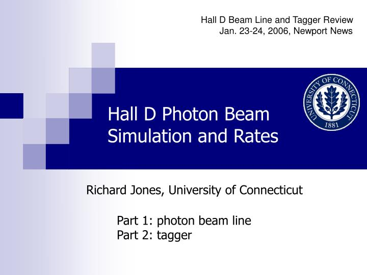 hall d photon beam simulation and rates n.