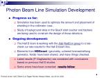 photon beam line simulation development