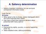 a saliency determination
