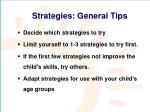 strategies general tips