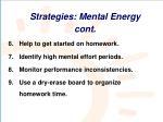 strategies mental energy cont