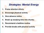 strategies mental energy