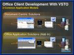 office client development with vsto 2 common application models