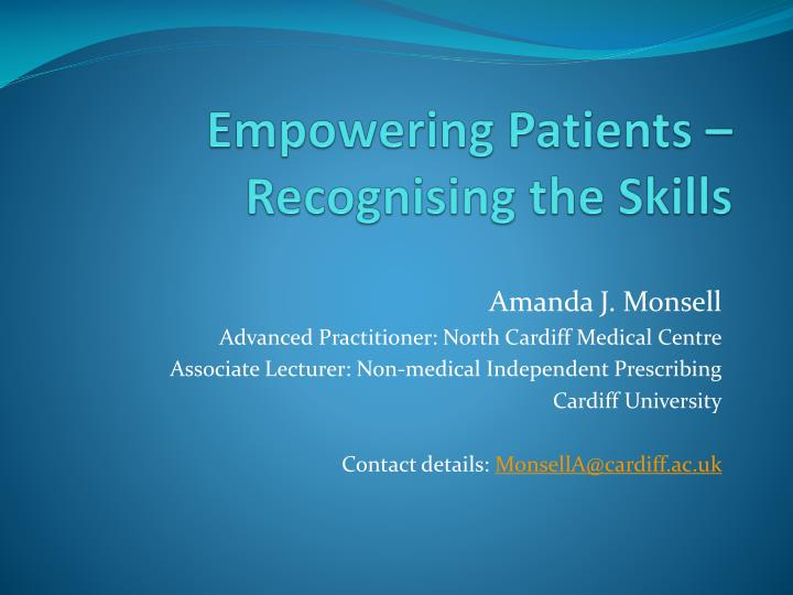 empowering patients recognising the skills n.