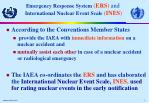 emergency response system ers and international nuclear event scale ines