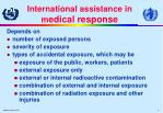 international assistance in m edical response