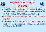 radiation accidents 1944 2001