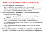 ndgd forecast uncertainty downscaling