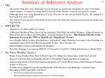 summary of subjective analysis1