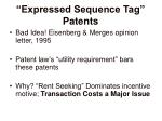 expressed sequence tag patents