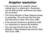 anaphor resolution