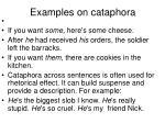 examples on cataphora