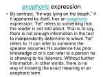 exophoric expression