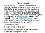 place deixis