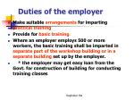 duties of the employer