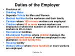 duties of the employer1