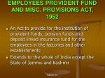 employees provident fund and misc provisions act 1952