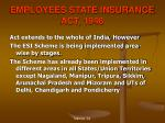 employees state insurance act 1948