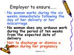 employer to ensure