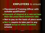 employers to ensure
