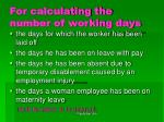 for calculating the number of working days