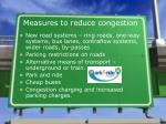 measures to reduce congestion
