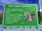 past paper question
