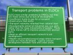 transport problems in eldcs