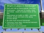 what s in place in edinburgh