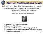 mission statement and goals