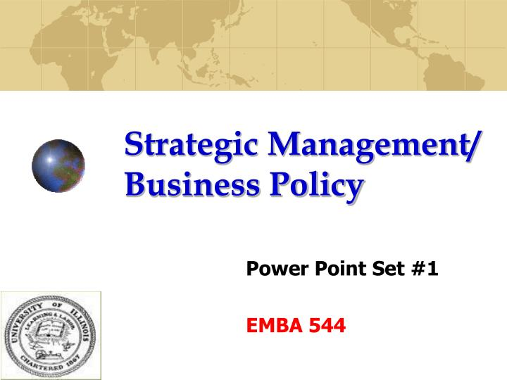 strategic management business policy n.