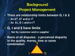 background project management