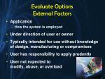 evaluate options external factors3